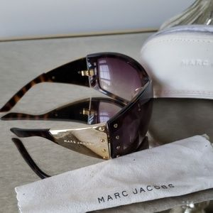 Marc Jacobs Tortoise and Gold Sunglasses